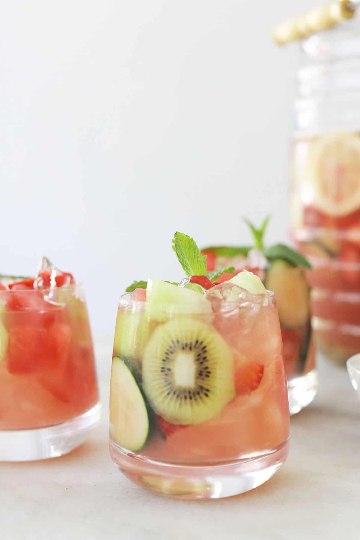 white wine sangria with watermelon