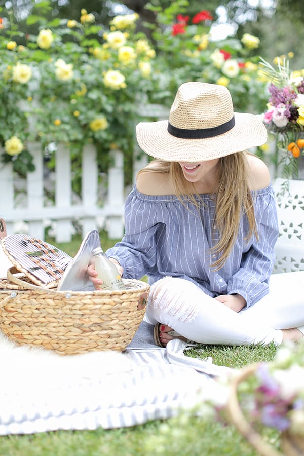 Eden Passante at a Mother's Day picnic