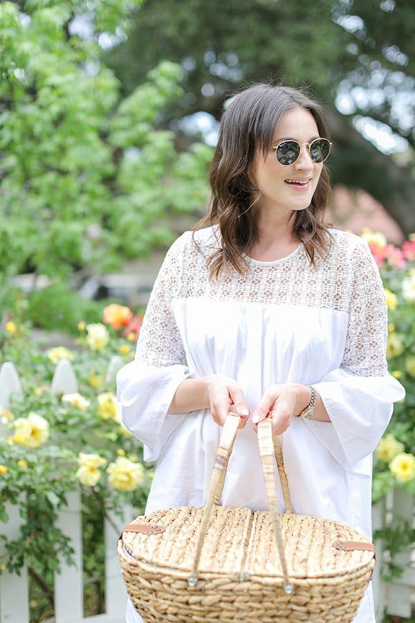 Girl holding a picnic basket
