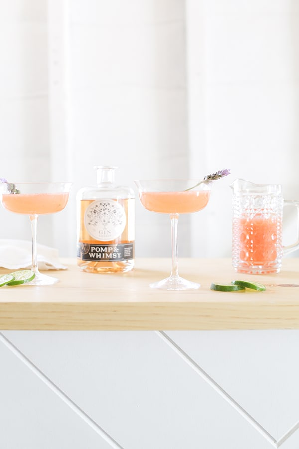 Floral cocktail with Pomp & Whimsy