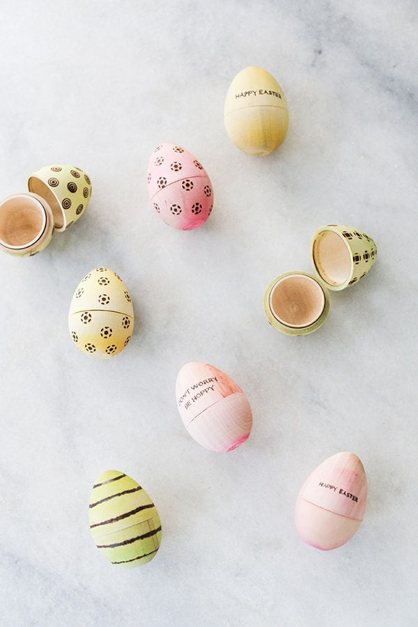 DIY easter eggs with patterns on them