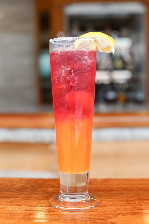 side shot of cooler cocktail