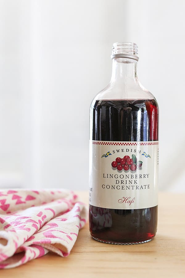 Bottle on Lingonberry concentrate.
