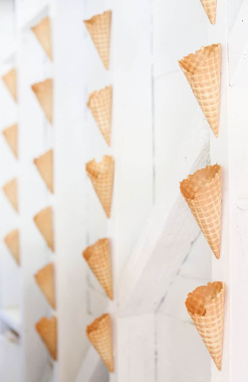 Waffle cone wall