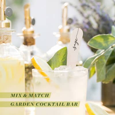 Mix & Match Garden Cocktail Bar