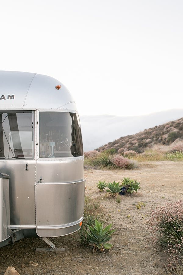 Airstream in Malibu