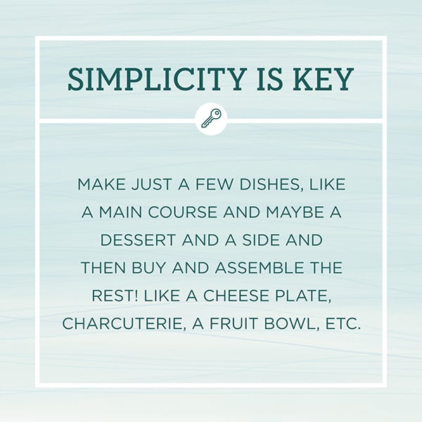 Entertaining Tips graphic about simplicity.