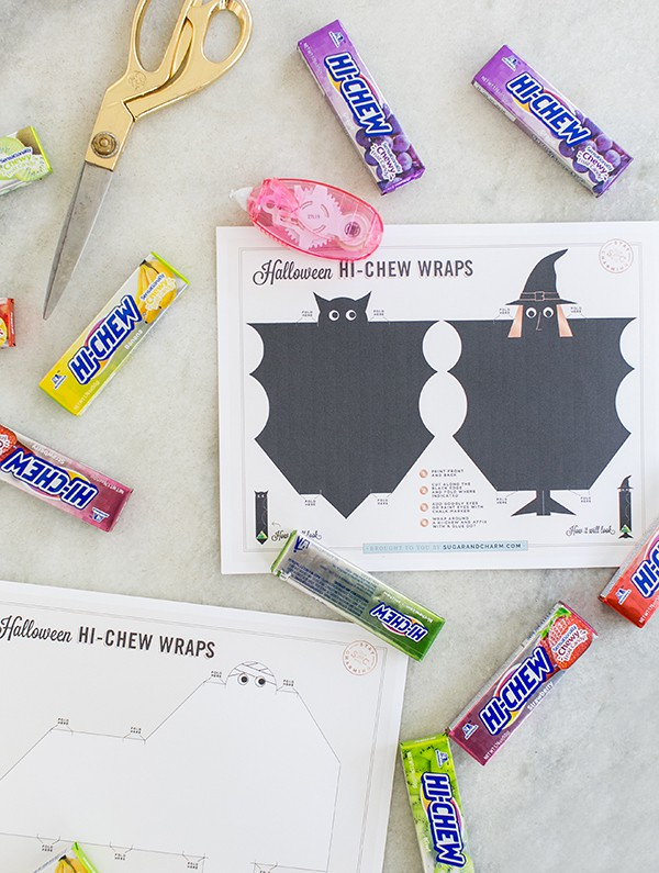 Printable to make Hi-Chew candy wrappers.
