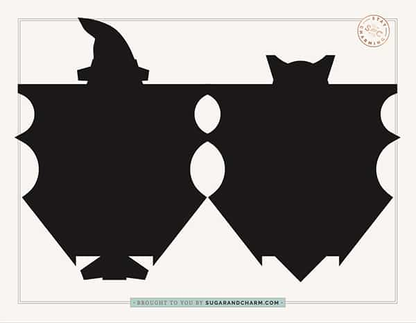 free bat template for Halloween candy