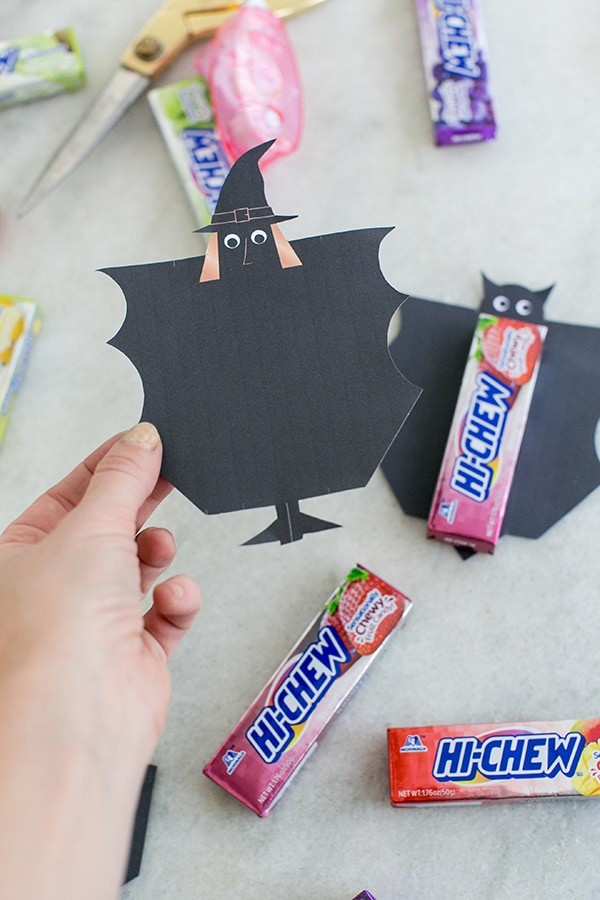Witch template for Halloween Hi-Chew