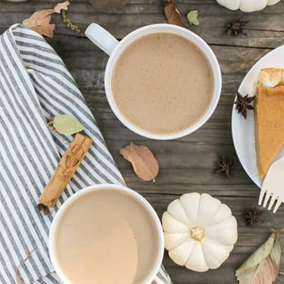 Warm Coconut Cream Pumpkin Spice Coffee