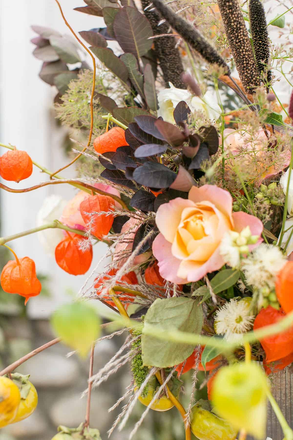Vintage Halloween Flowers