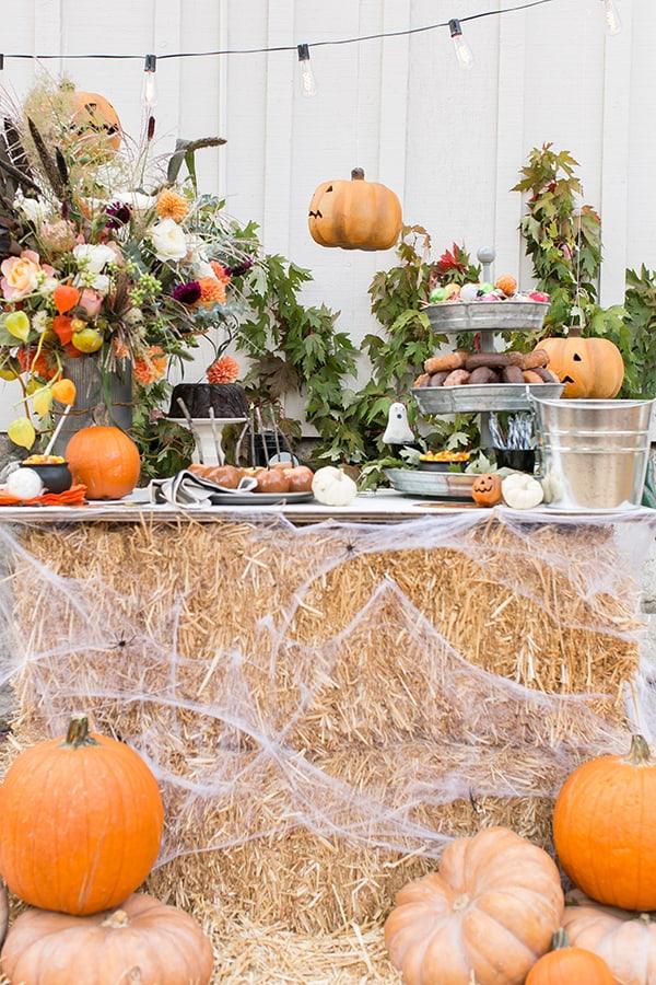 side shot of vintage halloween spread