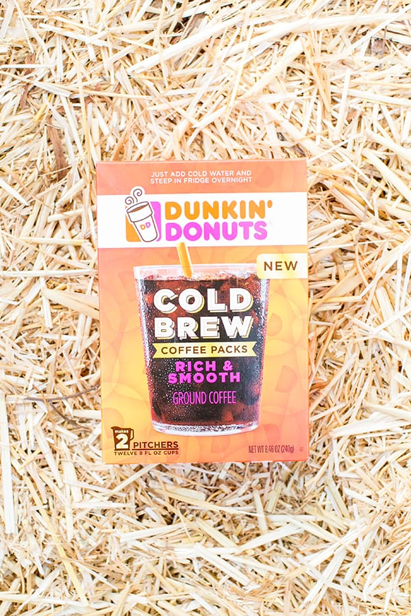 overhead shot of dunkin donuts cold brew pack