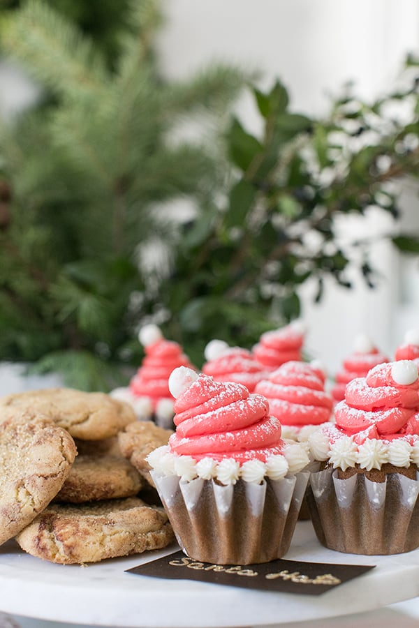 cookies and cupcakes on a table