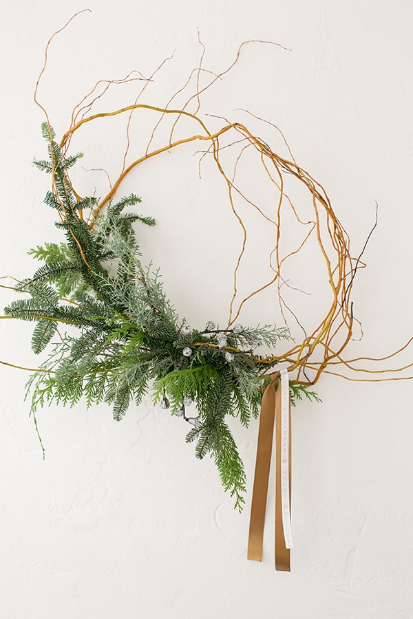 shot of asymmetrical wreath