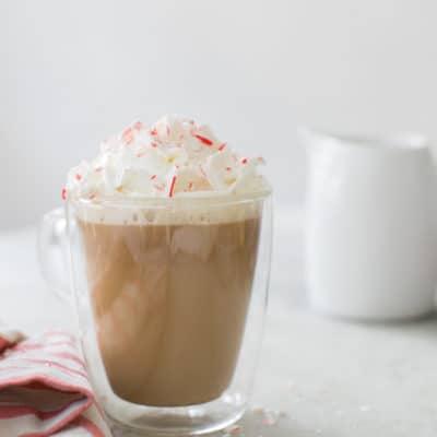 Peppermint White Chocolate Eggnog Mocha