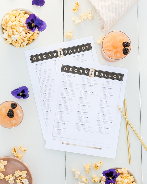 picture about Oscars Printable Ballots named 2018 Oscar Ballot Printable - Sugar and Appeal