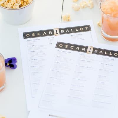 2018 Oscar Ballot Printable