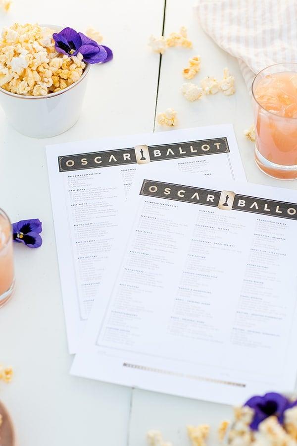 photograph about Printable Oscar Ballot identified as 2018 Oscar Ballot Printable - Sugar and Attraction