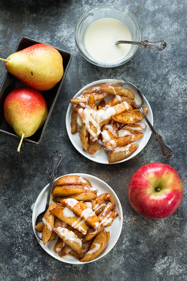 Sautéed Apples and Pears with Coconut Butter
