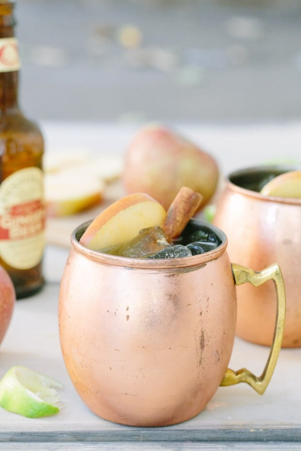 shot of apple cider moscow mule
