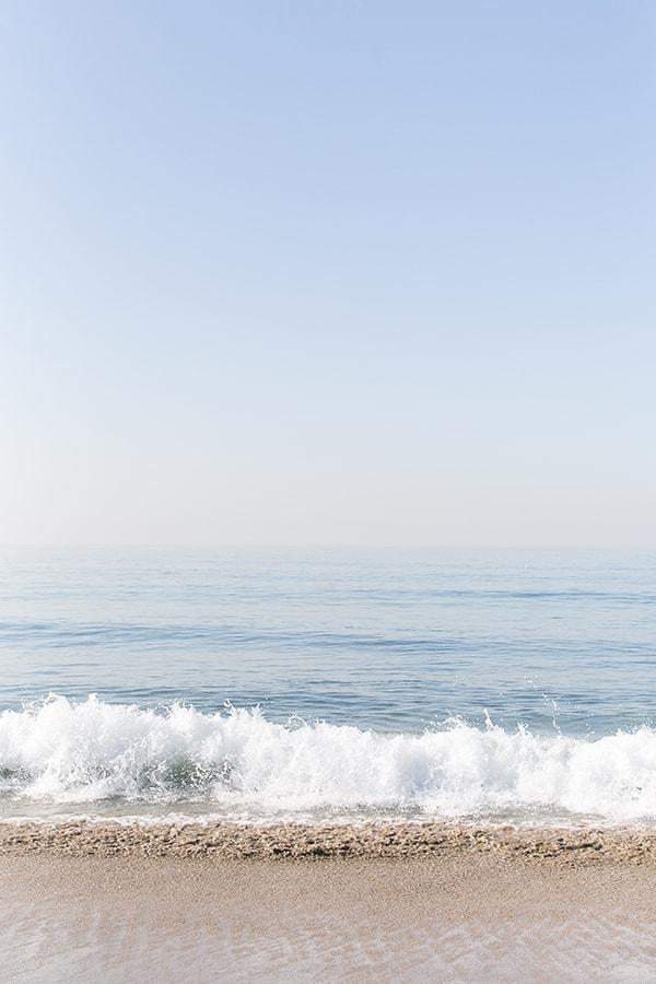 Beautiful ocean waves in Santa Monica Ca