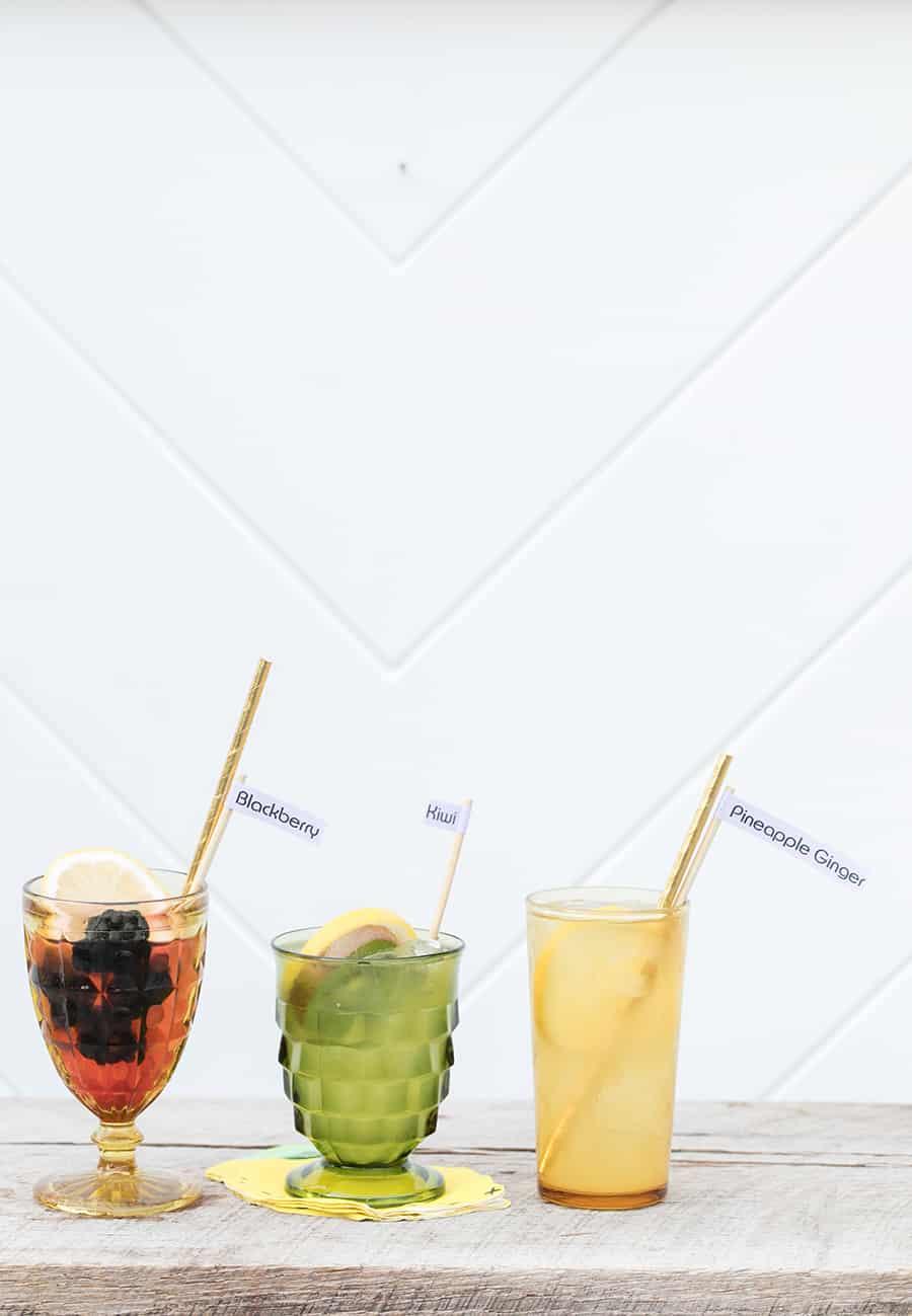 spiked lemonade in vintage glasses.