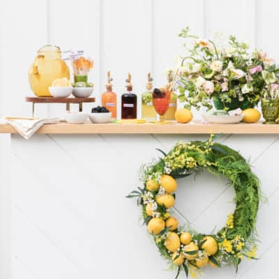 A Charming Lemonade Bar for Adults