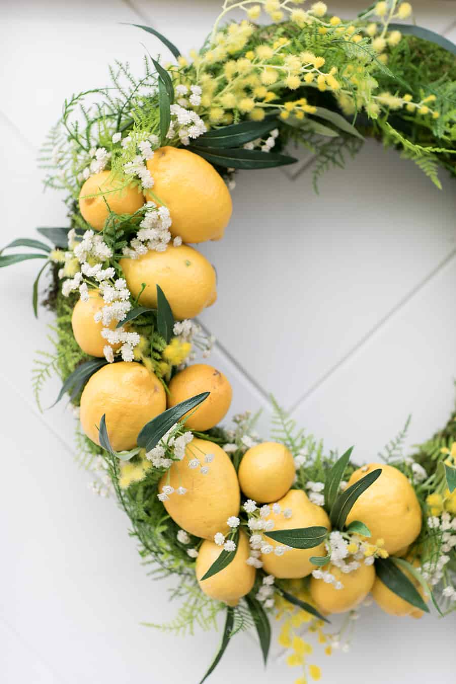 Lemons in a wreath