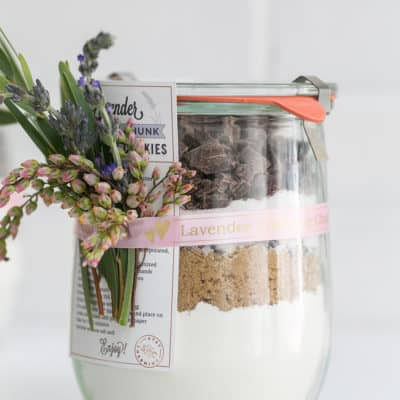 Lavender Chocolate Chunk Cookie Mix in a Jar