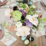 A charming Easter table setting