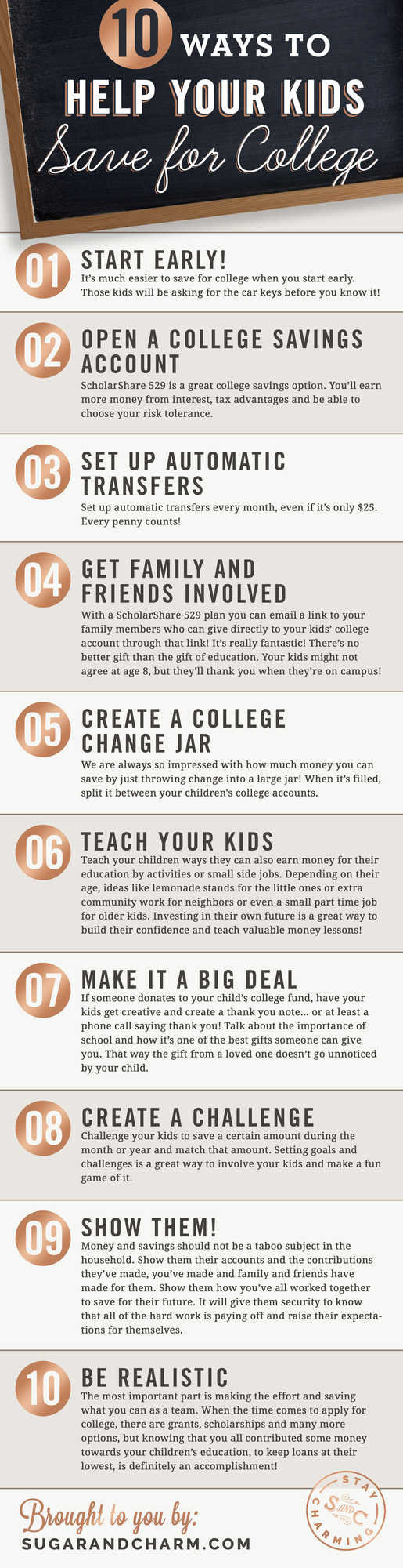 10 Ways to Help Your Kids Save for College! #College #Education #Savings #Family #Kids #Finances #School #Money