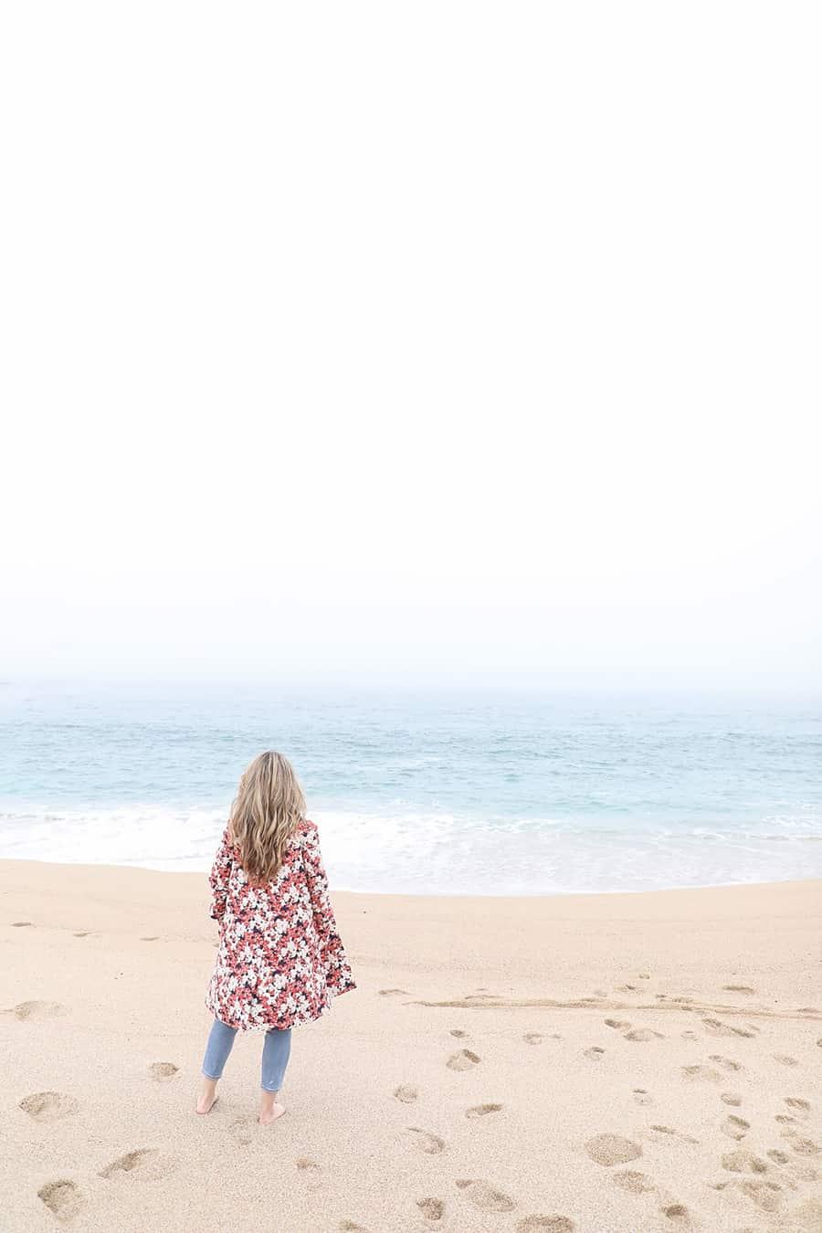 Eden Passante on the beach in Carmel