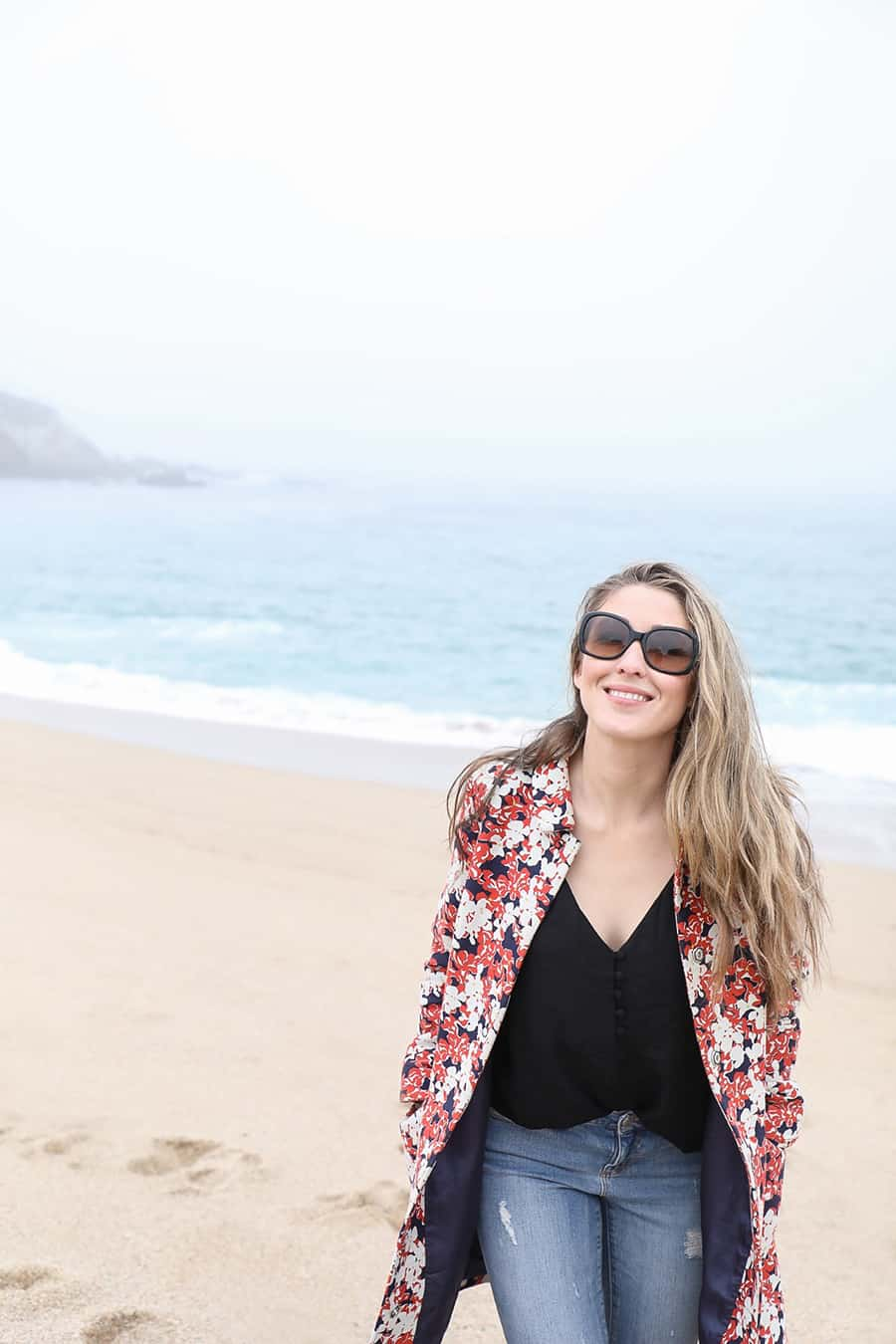 Eden Passante on the beach in Carmel by the Sea