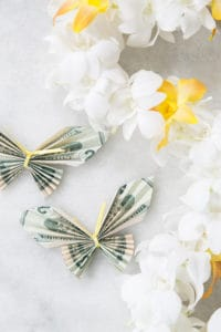 Money Origami – A Butterfly Lei for Graduation