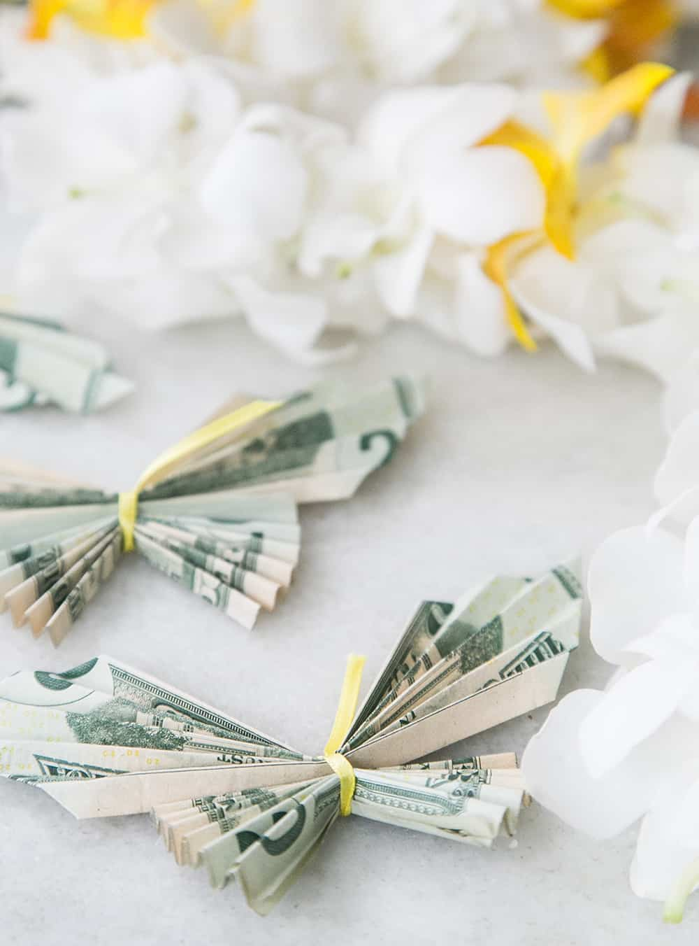 Money Origami Butterfly Lei For Graduation Sugar And Charm Sugar