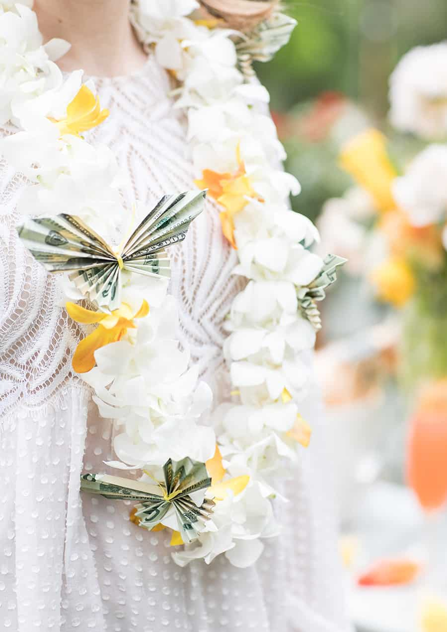 Origami butterfly lei for graduates