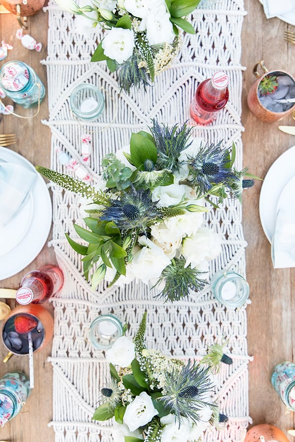 Table setting for the 4th of July