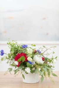 Creating a 4th of July Flower Arrangement