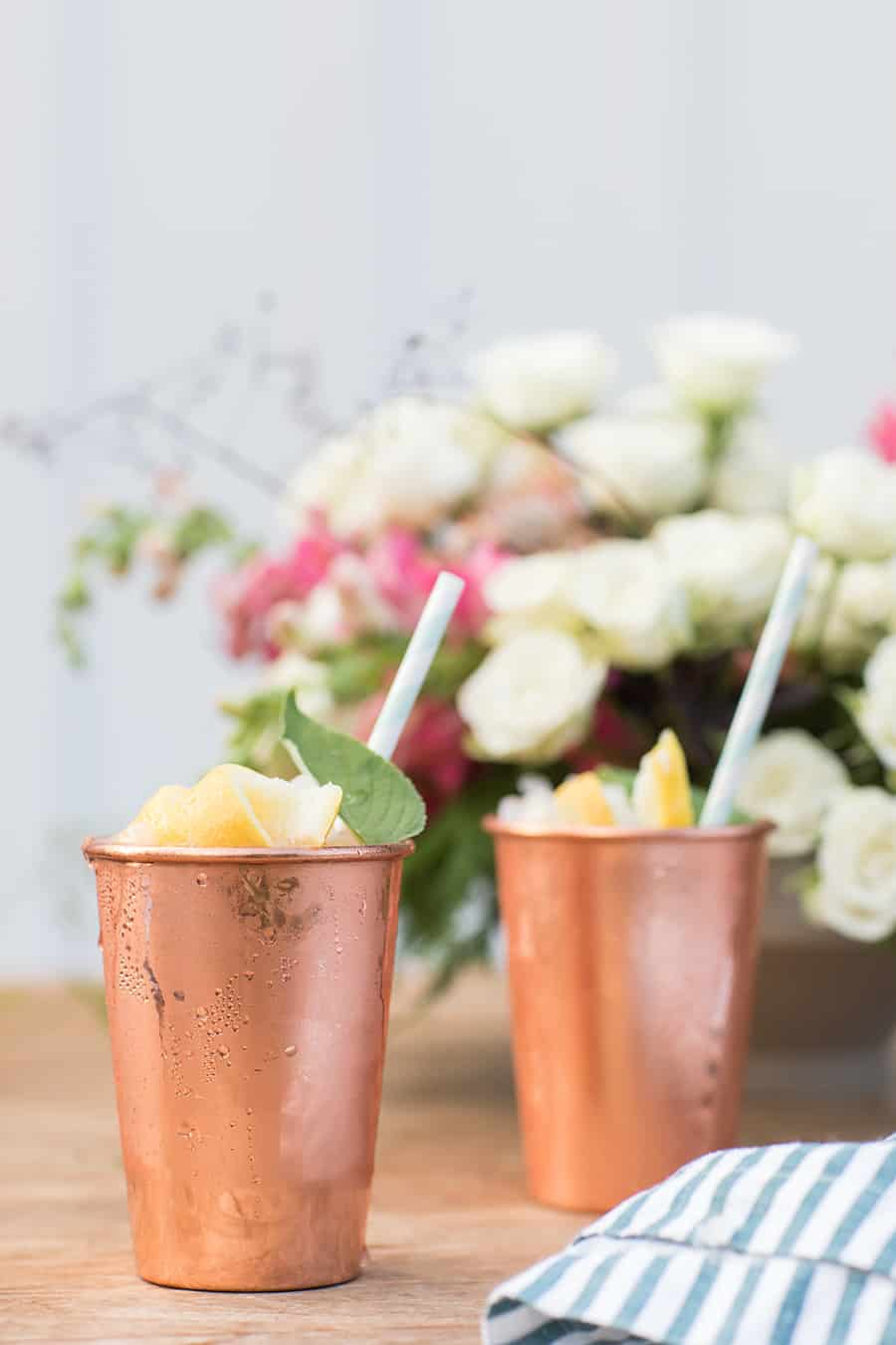 Lemon and Sage Moscow Mules