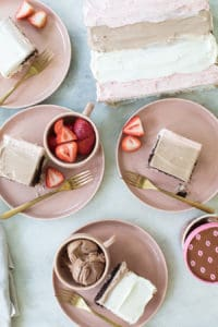 How to Make a Neapolitan Sheet Cake