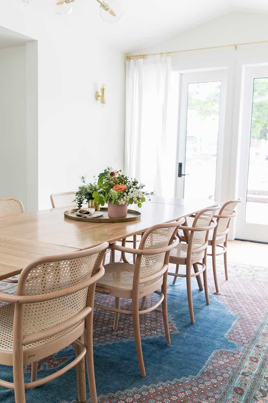 Stunning modern, rustic dining room.