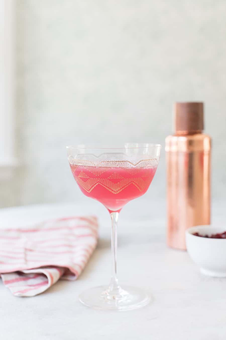 cranberry martini in a glass