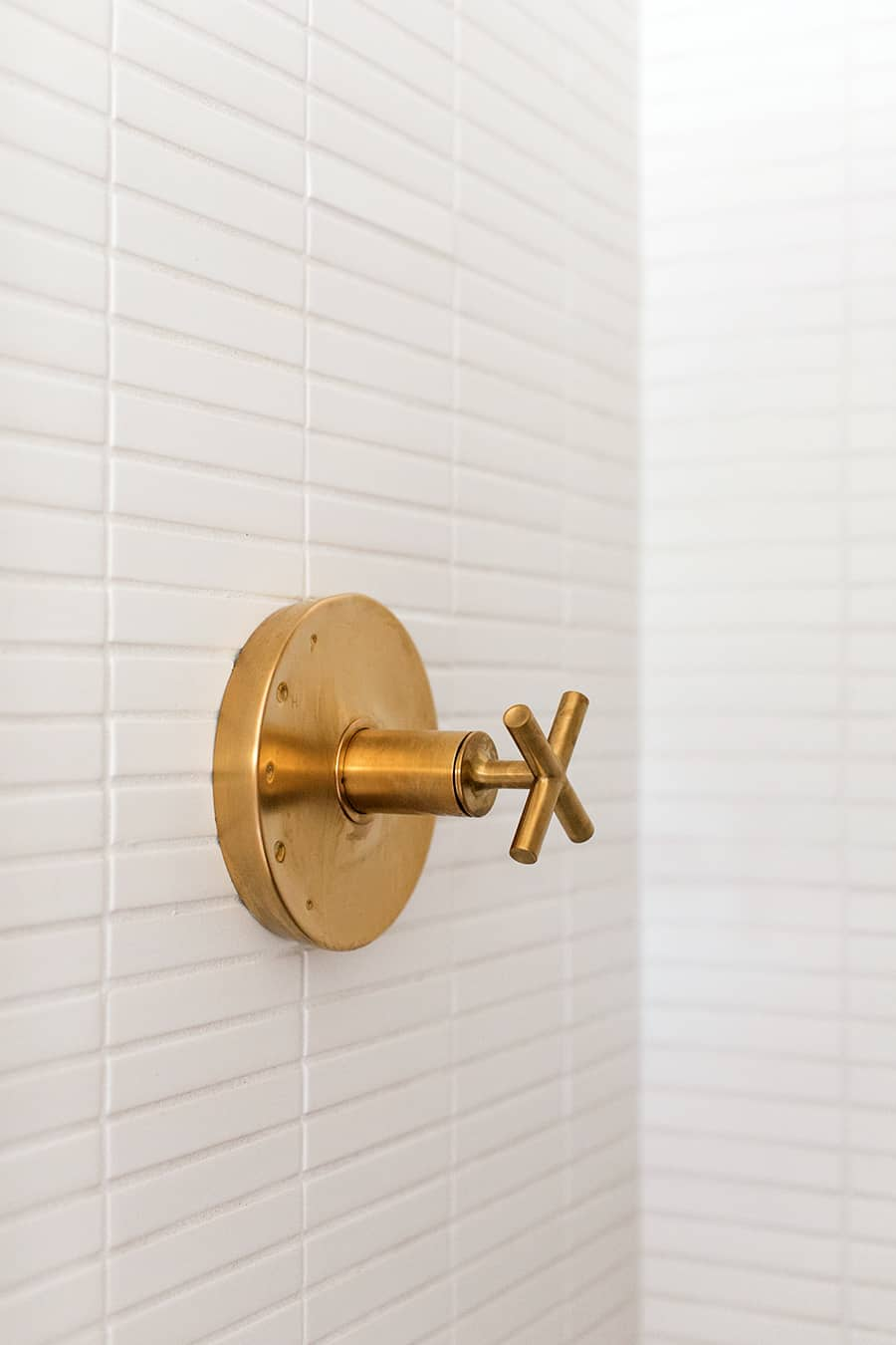Brass shower lever