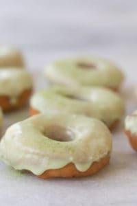 Homemade White Chocolate Matcha Donuts