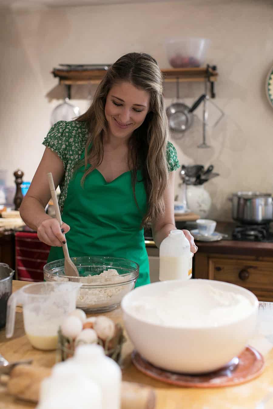 Eden Passante making Irish Soda Bread in a cottage in Northern Ireland