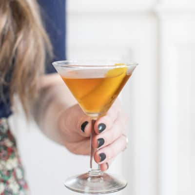 Made in France cocktail using Bénédictine served in a martini glass