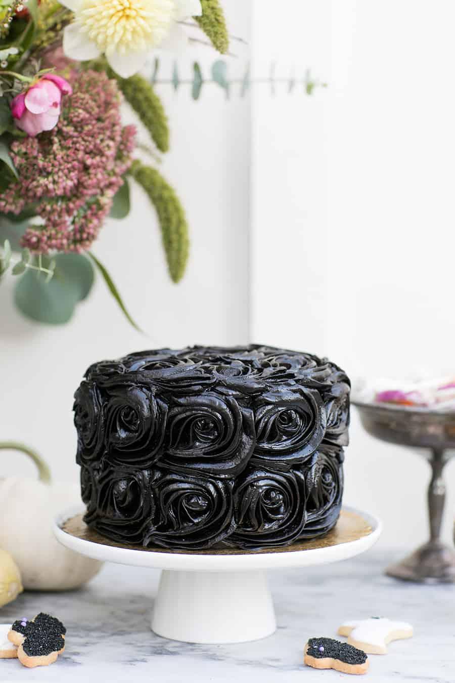 side shot of cake