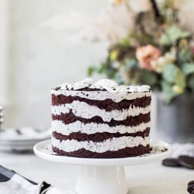 layered chocolate oreo cake